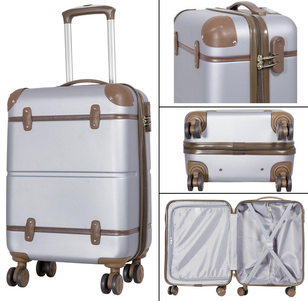 Cestovní kufr ABS BERLIN II SILVER BRIGHT velký L