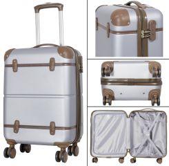 Cestovní kufr ABS BERLIN II SILVER BRIGHT malý S