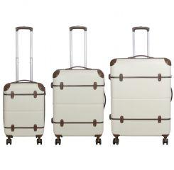 Cestovní kufr ABS BERLIN II BEIGE BRIGHT velký L MONOPOL E-batoh
