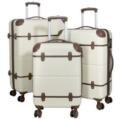 Cestovní kufr ABS BERLIN II BEIGE BRIGHT střední M
