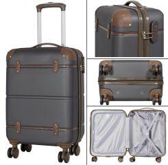 Cestovní kufr ABS BERLIN II ANTRAZIT BRIGHT malý S MONOPOL E-batoh