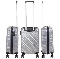 Cestovní kufr BILBAO stříbrný malý S MONOPOL E-batoh