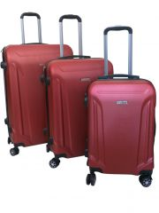 Cestovní kufry sada ABS T-Class 796 s TSA RED