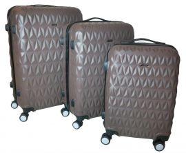 Cestovní kufry sada ABS T-Class 3018 BROWN