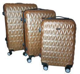 Cestovní kufry sada ABS T-Class 3018 GOLD