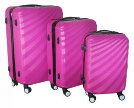 Cestovní kufry sada ABS T-Class 3019 PINK