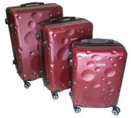 Cestovní kufry sada ABS-PC T-Class 628 s TSA RED
