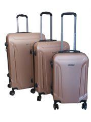 Cestovní kufry sada ABS T-Class 796 s TSA CHAMPAGNE