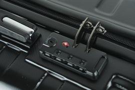 Cestovní kufry sada ABS T-Class 796 s TSA BLACK E-batoh