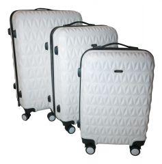 Cestovní kufry sada ABS T-Class 3018 WHITE