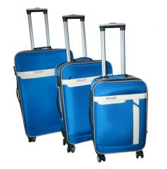 Sada 3 kufrů textilní Wily wolf modré s TSA