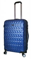 Cestovní kufr ABS T-Class 3018 BLUE velký L E-batoh