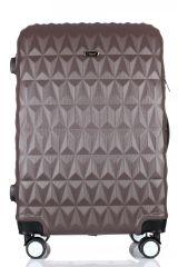 Cestovní kufr ABS T-Class 3018 BROWN střední M
