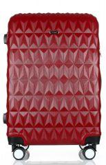Cestovní kufr ABS T-Class 3018 RED střední M