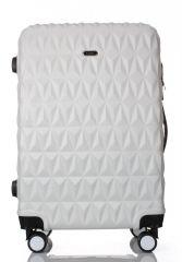 Cestovní kufr ABS T-Class 3018 WHITE střední M