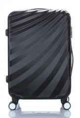 Cestovní kufr ABS T-Class 3019 BLACK střední M