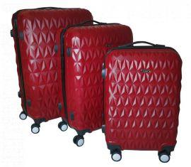 Cestovní kufry sada ABS T-Class 3018 RED