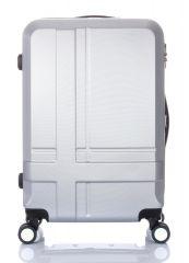 Cestovní kufr ABS T-Class 3011 SILVER velký L
