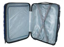 Cestovní kufr ABS T-Class 3011 SILVER malý S E-batoh