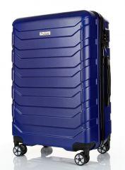 Cestovní kufr ABS-PC T-Class 618 s TSA BLUE velký L