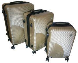 Cestovní kufry sada ABS-PC T-Class 2011 s TSA CHAMPAGNE