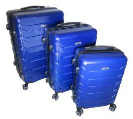 Cestovní kufry sada ABS-PC T-Class 618 s TSA BLUE