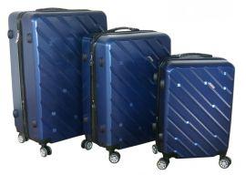 Cestovní kufry sada ABS-PC T-Class 7001 s TSA BLUE