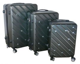 Cestovní kufry sada ABS-PC T-Class 7001 s TSA DARKGEY