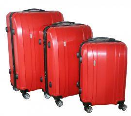 Cestovní kufry sada ABS-PC T-Class 7002 s TSA RED