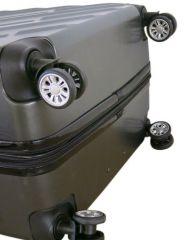 Cestovní kufr ABS-PC T-Class 7001 s TSA DARKGEY střední M E-batoh