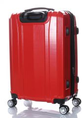Cestovní kufr ABS-PC T-Class 7002 s TSA RED malý S E-batoh
