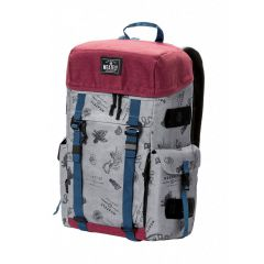 MEATFLY SCINTILLA BACKPACK B - STAMPS LIGHT GREY