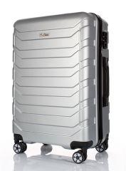 Cestovní kufr ABS-PC T-Class 618 s TSA SILVER velký L