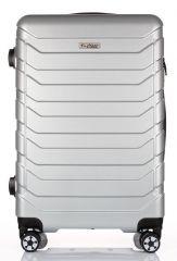 Cestovní kufr ABS-PC T-Class 618 s TSA SILVER střední M