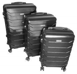 Cestovní kufry sada ABS-PC T-Class 618 s TSA BLACK