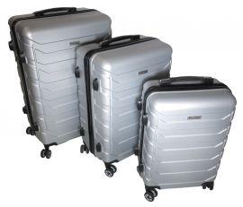 Cestovní kufry sada ABS-PC T-Class 618 s TSA SILVER
