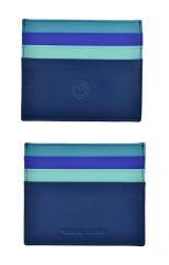 Pouzdro na karty Carraro Rainbow 569-RA-05 modrá