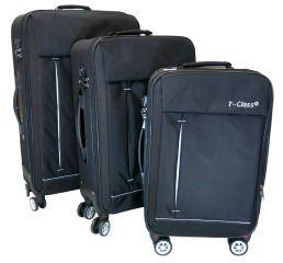 Sada 3 kufrů textilní T-Class 352 s TSA BLACK