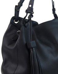 Černá moderní kabelka přes rameno 3990-BB BELLA BELLY E-batoh