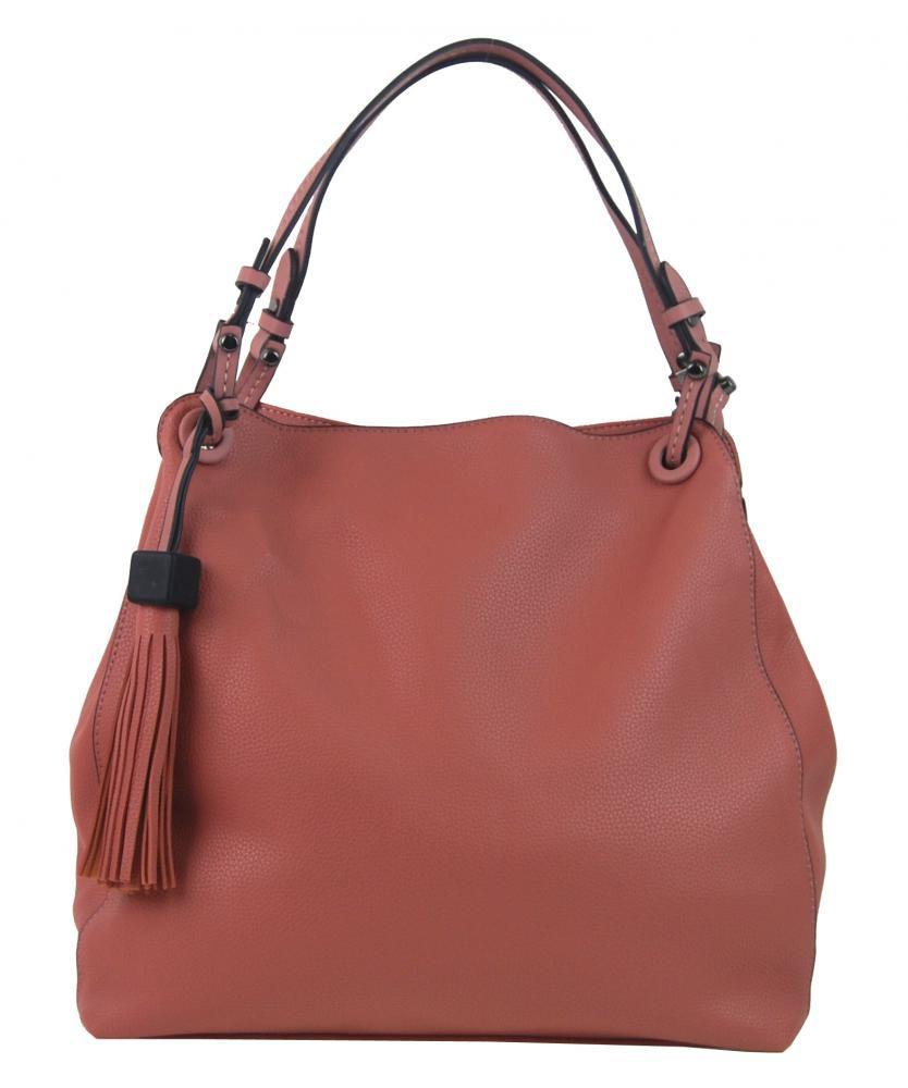 Růžová moderní kabelka přes rameno 3990-BB