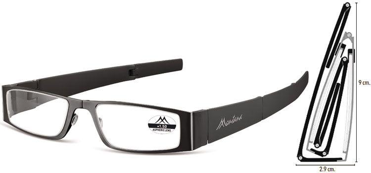 SKLÁDACÍ dioptrické brýle MR26 BLACK+1,50