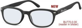 Brýle na počítač BLF70 BLACK bez dioptrií
