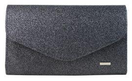 Černé třpytivé dámské psaníčko SP102 GROSSO