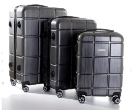 Cestovní kufry sada ABS-PC T-Class 2222 s TSA BLACK