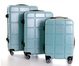 Cestovní kufry sada ABS-PC T-Class 2222 s TSA BLUE LIGHT
