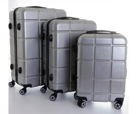 Cestovní kufry sada ABS-PC T-Class 2222 s TSA SILVER LIGHT