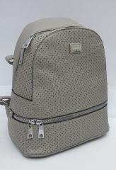 Šedý dámský stylový batůžek 4063