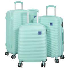 Cestovní kufr ABS SANTORIN lightBLUE BRIGHT velký L 2 jakost
