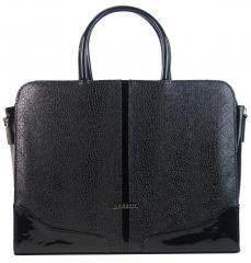 """Elegantní dámská aktovka / taška na notebook 15.6"""" černá hadí kůže ST03 GROSSO"""