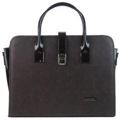 """Hnědá matná elegantní dámská aktovka / taška na notebook 15.6"""" ST02 GROSSO"""